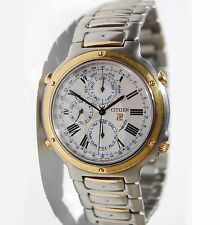 CITIZEN PROMINENCE Very Rare,Chrono-Alarm-GMT Sophisticated Two Tone Men's Watch