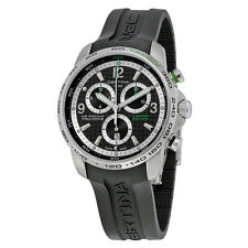 Certina DS Podium Big Size Chronograph Black Dial Black Rubber Mens Watch