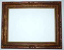 "Newcomb & Macklin Style Gold Leaf Wood Carved Picture Frame 10"" x 8"" Painting"