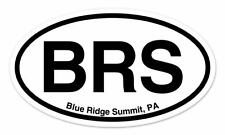 "BRS Blue Ridge Summit PA Oval car window bumper sticker decal 5"" x 3"""