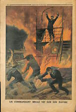 CAPTAIN CAPITAINE RUSSE RUSSIA VAPEUR * KOMETA * ACCIDENT INCENDIE 1914