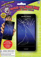 Classic Novelty Broken Cell Phone Joke Gag Cracked Screen Prank