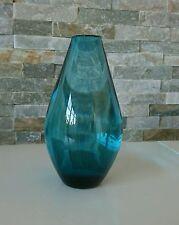 Bauhausstil Glas Vase Turmalin  Wagenfeld Breuer Ära bläulich grün