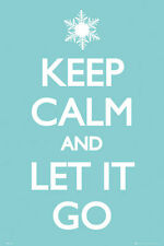 KEEP CALM AND LET IT GO - POSTER - 24x36 FROZEN MOVIE SONG 34011