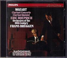 Frans BRÜGGEN & Eric HOEPRICH: MOZART Clarinet Concerto Quintet CD PHILIPS 1988