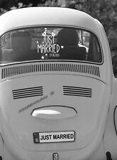 """Autoaufkleber Hochzeit """"Just married"""" mit Datum in der Größe M"""