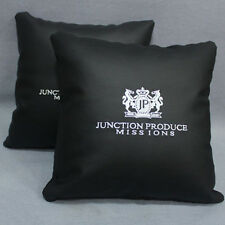 2x NEW JUNCTION PRODUCE LEATHER JP VIP AUTO CAR MAT SEAT THROW PILLOW CUSHIONS