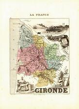 Carte du Département de la GIRONDE - vers 1874-Migeon