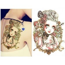 Lovely Big Eyes Doll Tattoo Decals Body Art Decal Waterproof Paper Tattoo