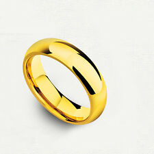 Womens Wedding Band Ring Smooth Engagement Ring Fashion Yellow gold filled Size7