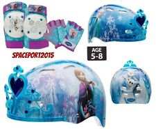 FROZEN Anna+Elsa+Olaf BIKE HELMET+GLOVES+ELBOW+KNEE PADS SET Scooter Skates Kids