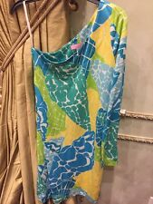 Lilly Pulitzer Whitaker One Shoulder Dress She Sea Shells Size Small EUC!