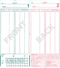 2000 AMANO MJR7000 TIME CLOCK CARDS 20 GROUPS # 000-099
