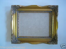 NEW Ornate wooden 5x4 inch  gold picture frame WITH GLASS