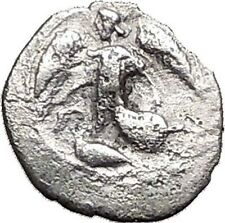 KAMARINA in SICILY 461BC Nike Swan Athena Ancient Silver Greek Litra Coin i55606