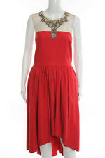 Marchesa Notte Red Delighted Dress Size 14 New $895 10179617