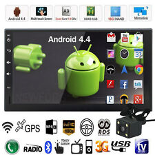 7'' Android 4.4 3G WiFi Double 2DIN Car Radio Stereo MP5 Player Nav GPS BT + Cam