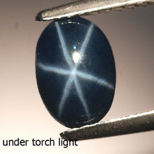 1.33CT Perfect Sharp 6 Rays Oval Cabochon Natural Deep Blue Star Sapphire #18