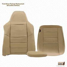 2006 Ford F250 F350 Lariat-Driver Bottom,Top, Armrest Leather Seat Covers Tan