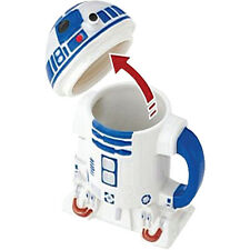 STAR WARS ~ R2-D2 Ceramic Mug with Lid (Zeon Ltd.) #NEW