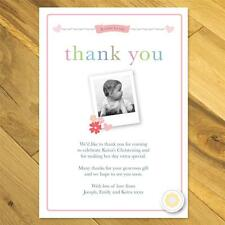 20 Personalised Thank you cards notes Childrens Baby girl boy
