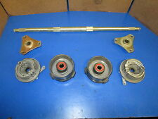 YOU BUILD GO CART PARTS REAR AXLE/ HUBS, FRONT HUBS / BRAKE BACKING PLATES