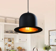 Modern Decor Black  Hat Bowler Jeeves Lamp Lighting Pendant Light Ceiling