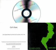 CAT'S EYES Be Careful Where You Park Your Car 2016 UK 1-trk promo test CD