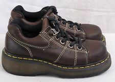 Dr. Martens Doc 9806 DM'S Brown Leather Air Ware Wedge Oxfords Women's U.S. 6