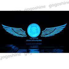 90x25 CM Car Music Rhythm LED Flash Light Sticker Sound Equalizer Wing Lion Blue