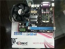 intel chipset H55 MotherBoard + intel i5 processor + 4GB DDR3 RAM With Cpu Fan**