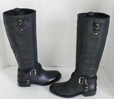 Vince Camuto Kabo Black Leather Buckle Boots 6