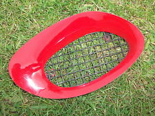 MGF ENGINE INTAKE GRILL LEFT SOLAR RED CHROME