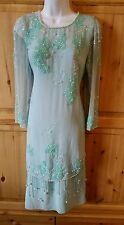 JACK BRYAN MOTHER OF THE BRIDE FORMAL CRUISE EVENING DRESS SIZE 12 BEADED SEQUIN