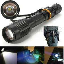 6000LM T6 LED Luz Linterna Lámpara Portátil Flashlight Zoomable Caza