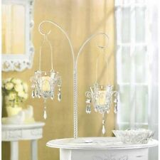 "15 HANGING CHANDELIER VOTIVE CANDLE HOLDER STAND CENTERPIECES 17"" TALL NE--34693"