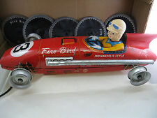 VINTAGE 1950's FIRE BIRD  RACING CAR MADE IN JAPAN BY TOMIYAMA TIN ORIGINAL BOX