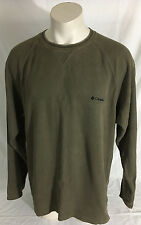 Columbia Sportswear Brown Baselayer Long Sleeve Shirt 100% Cotton Men's 2XL