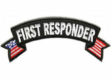 First Responder US Flags Small Rocker EMT Fire Police Vest Biker Patch PAT-2832