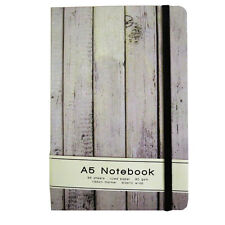 A5 Premium Casebound Notebook - Old Wood Design - 192 Light Cream Pages - Ruled