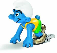 NEW WITH TAG - OLYMPIC SPRINTER SMURF OLYMPICS by SCHLEICH THE SMURFS - 20741