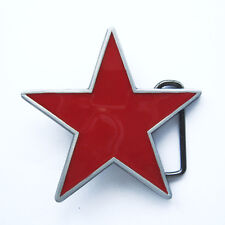 Belt Buckle Gürtel Gürtelschnalle roter Stern / Tattoo / red Star