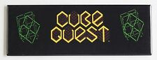 Cube Quest Marquee FRIDGE MAGNET (1.5 x 4.5 inches) arcade video game header