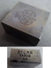 Matrice de sceau cachet en acier STERN armoiries écusson couronne seal