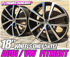 "4 x 18"" NEW ALLOY WHEELS ONLY CHARLESTON STYLE VOLKSWAGEN GOLF MK5 MK6 MK7"