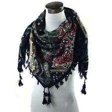 Winter Women Printing Tassel Cotton Sarong Wrap Shawl Kerchief Scarves  A1