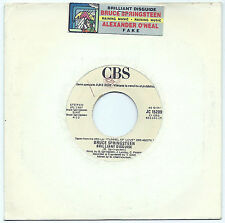 "7"" BRUCE SPRINGSTEEN/O'NEAL Brilliant (Cbs 87 ITALY) juke box promo strip EX!"