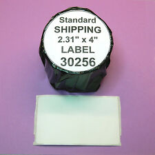 4 Rolls  SHIPPING LABELS fit DYMO 30256 - BPA Free