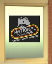 Miller's National Bohemian Beer Natty Boh Animated Neon Window Sign   O Scale