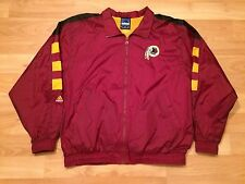 WASHINGTON REDSKINS ADIDAS NFL TRACK JACKET MENS XL BURGUNDY VTG WINDBREAKER